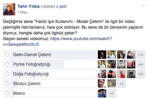 Facebook anketi