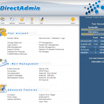 Kullanıcı adı ve şifrenizi girdikten sonra DirectAdmin ekranı