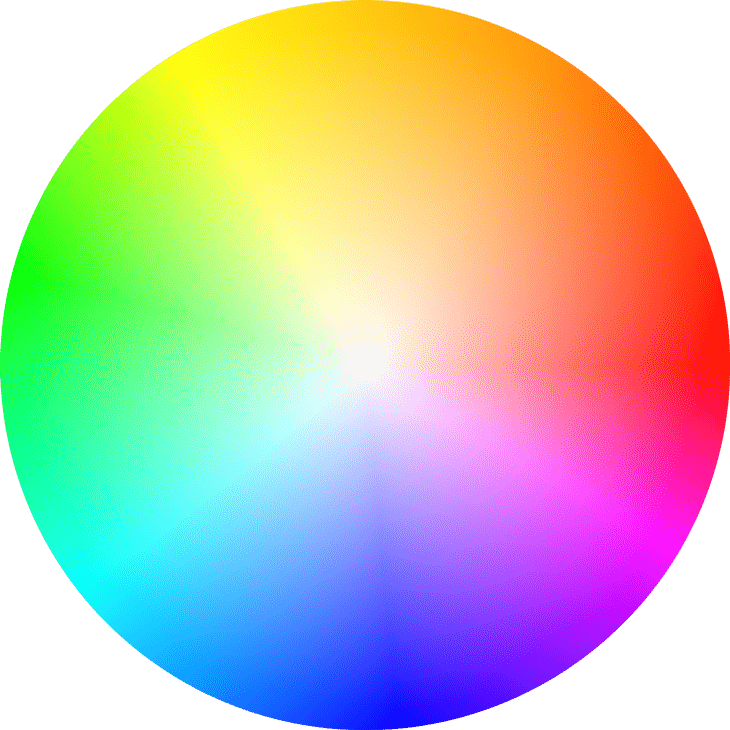 Renk paleti, genellikle birbirinin tam karşısına gelen renkler birbirine uyumludur